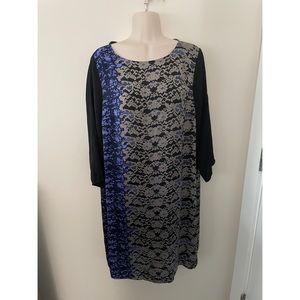 🌿 DKNYC Lightweight Patterned Shift Dress